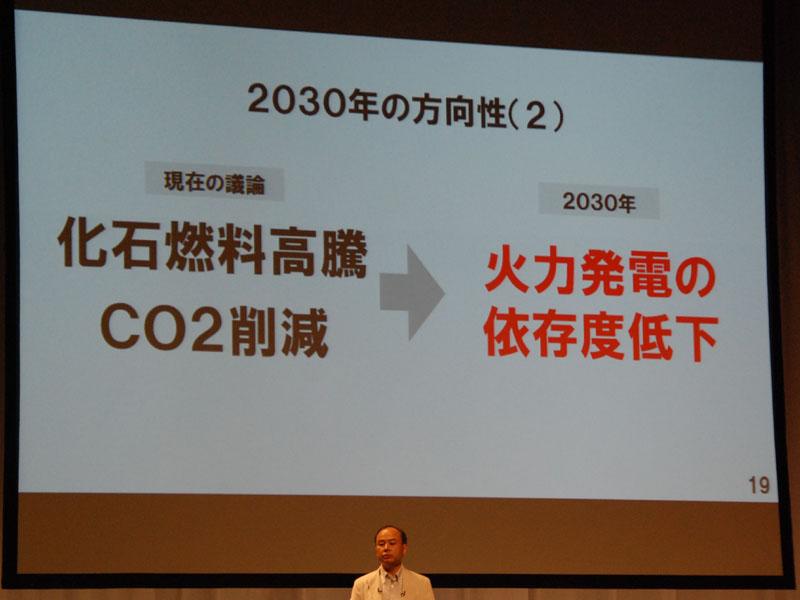さきほど述べた二酸化炭素の削減もあり、「火力発電の依存度低下」も2030年にむけて必須となる