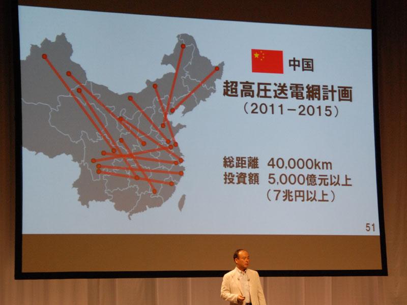 これは絵空事ではない。たとえば中国では「超高圧送電網計画」が進んでいる