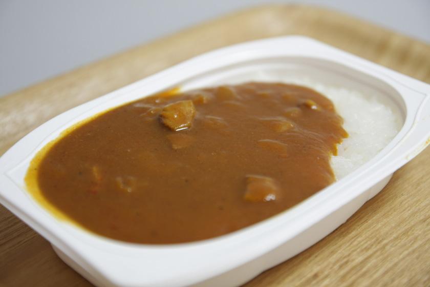 カレーとご飯が同時に15分ほどで温められた