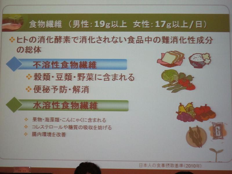 食物繊維は、穀物や野菜、海藻類などに多く含まれる