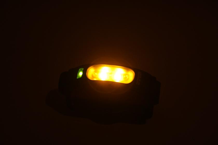 NightLightモードにすると、このような常夜灯になる