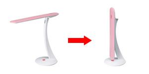 使用しない時は、セードが約170度まで可動。折りたたんで収納できる
