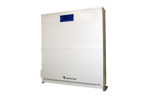 「停電対応システム」の蓄電池外観