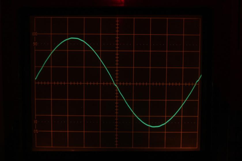 こちらの写真は、波形のワンセットを拡大したもの