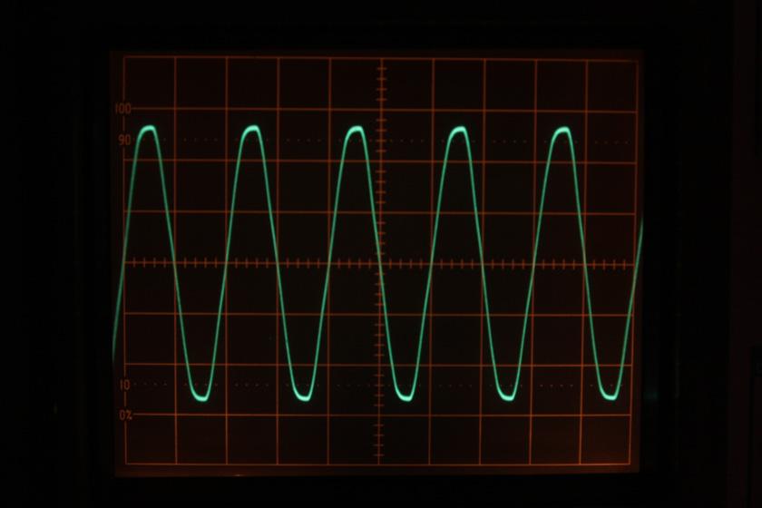 こちらは東京電力管内(おそらく川崎からの供給)のコンセントの波形