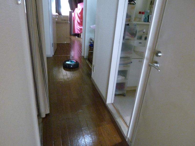 念入りモードにしたら廊下の方も掃除し始めた