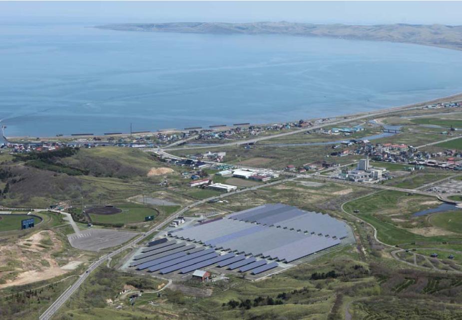 北海道稚内市の「稚内メガソーラー発電所」。2007年より運転している(写真はNEDOのパンフレットから抜粋)