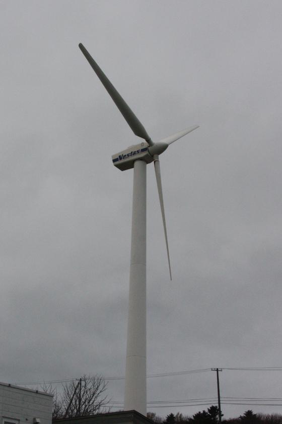 稚内市が運営する稚内公園風力発電所