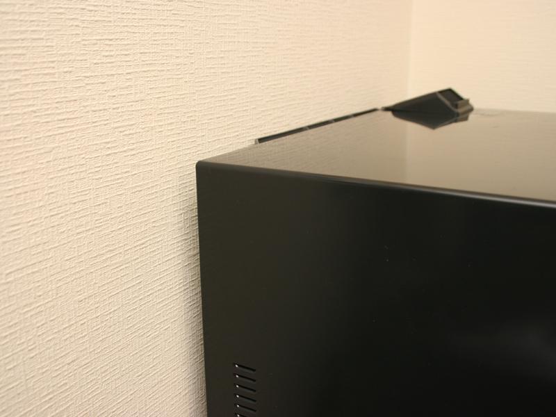 背面は壁に沿わせた状態で設置できる