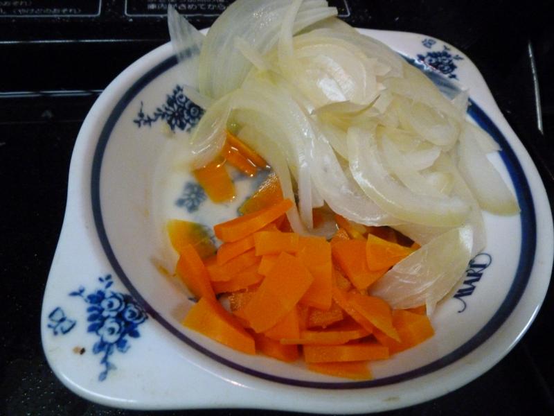 加熱後の野菜は水切りしておく