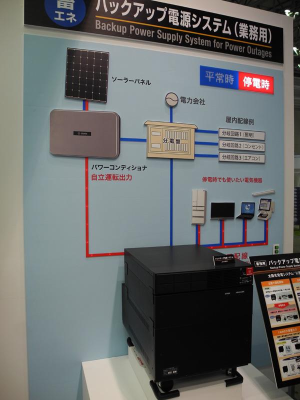 太陽光発電システム「SUNVISTA」シリーズとして発売されるバックアップ電源システム