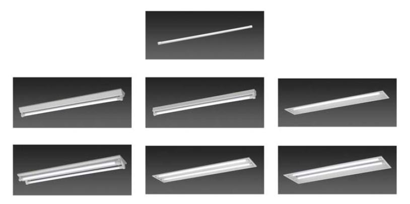 直管型LEDランプと専用照明器具