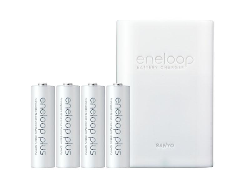 シリーズに新たにラインナップされた「eneloop plus」。3世代目eneloopと同じ性能に加え、ショートしても発熱しないようになっている