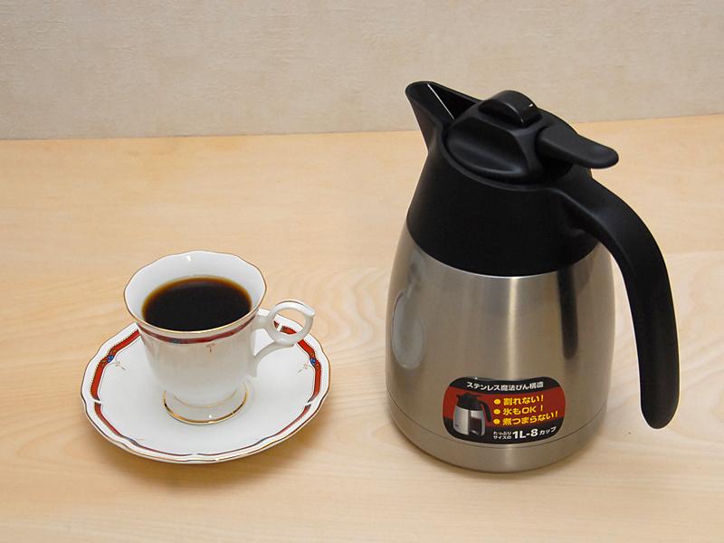 一度に1Lものコーヒーがドリップできる