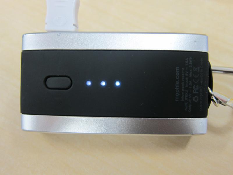 点灯するランプの数が少ないほど、バッテリー残量が乏しい