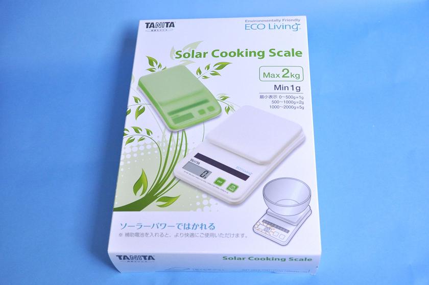 タニタ「ソーラーデジタルクッキングスケール SD-004」