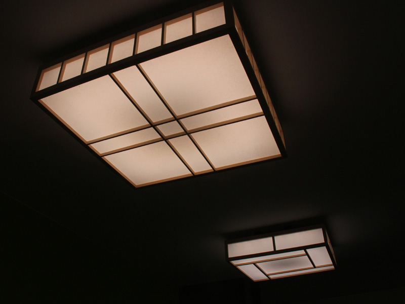 LEDシーリングライトの「ジャパニーズデザインシリーズ」。写真は電球色