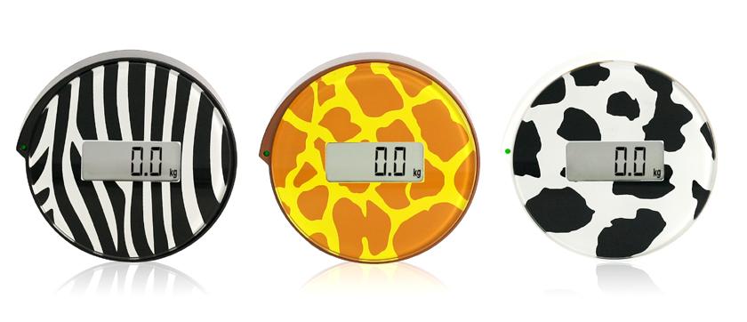 「BGO-14 シングルステップスケールAnimal cercle」左からzebra、giraffe、cow