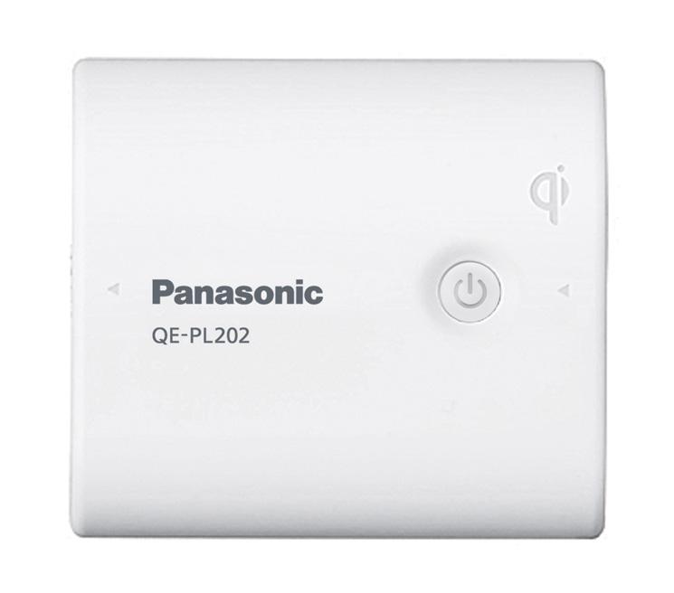 無接点充電に対応した「QE-PL202」