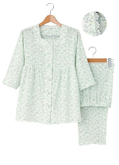 「すっきり爽快」の婦人用パジャマの一例。7分袖長パンツ仕様で5,145円