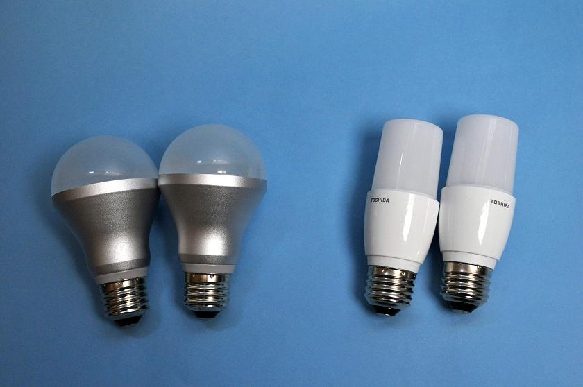 今までペンダントライトに使用していたLED電球2個を換えることにした