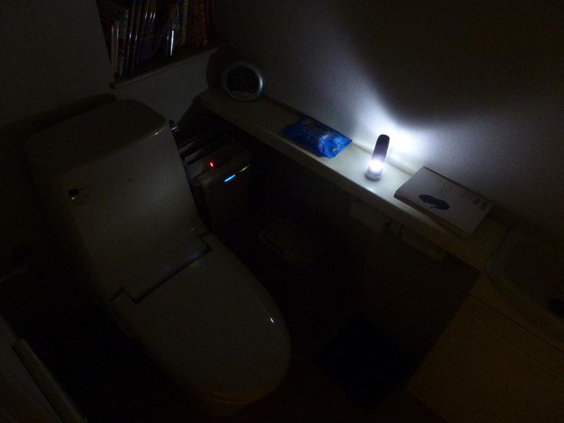 ランタンとしてトイレに置いた