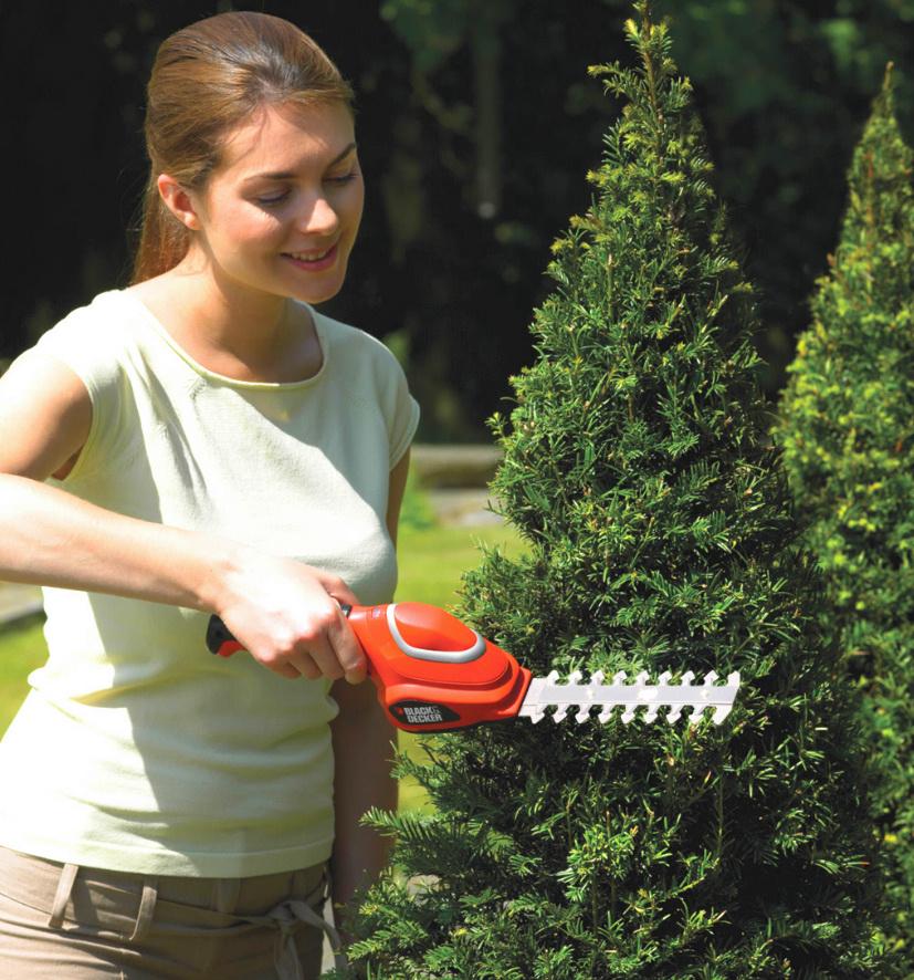 庭木バリカン使用時