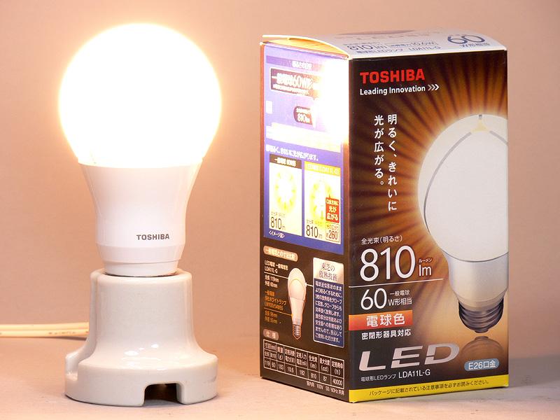 東芝ライテック「E-CORE(イー・コア) LED電球 一般電球形 10.6W 810lm(電球色) LDA11L-G」
