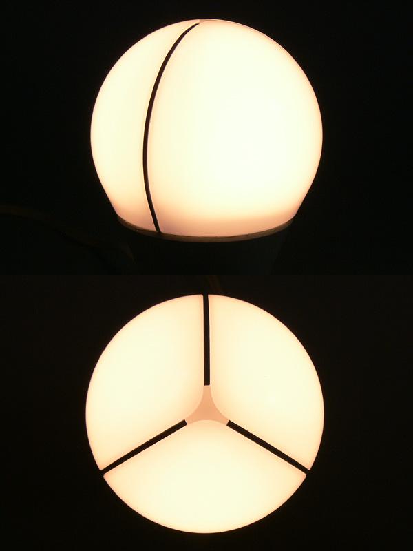 光源にはトリプルアーチ放熱板が挟み込まれているが、輝きは均一で眩しさが抑えられている
