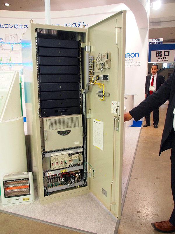 展示されていた、蓄電容量9.8kWhの定置型蓄電装置