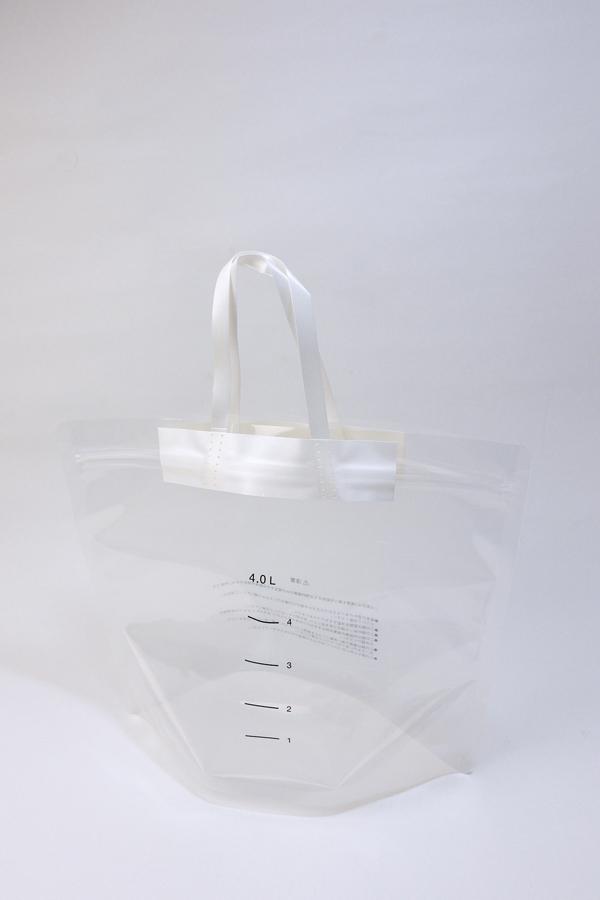 トートバッグ風の非常用給水袋