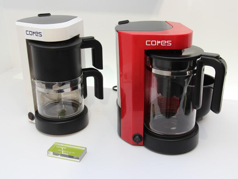 5カップ用のコーヒーメーカー。ゴールドフィルターを搭載したタイプも扱われるという