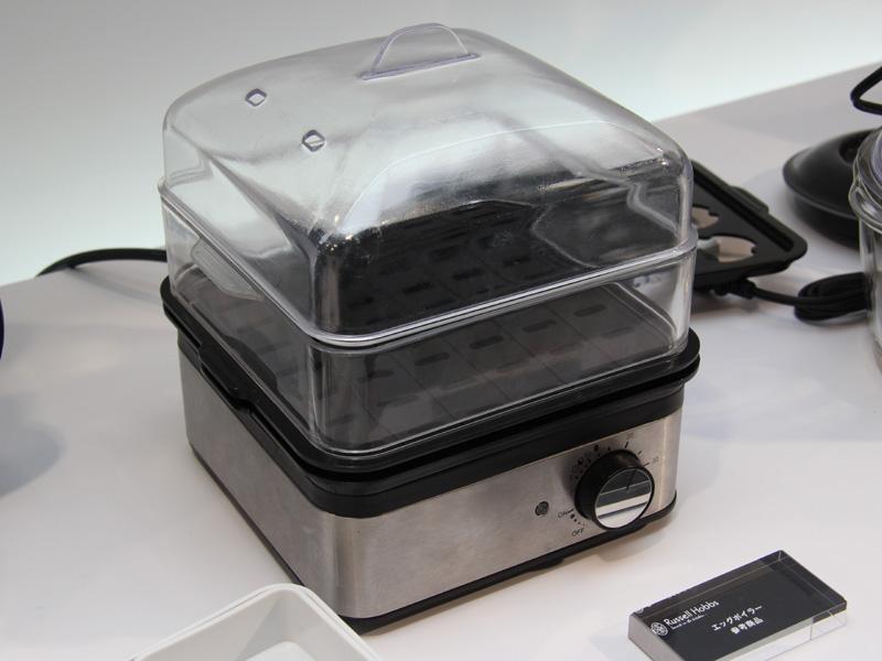 新製品の「エッグボイラー&スチーマー」