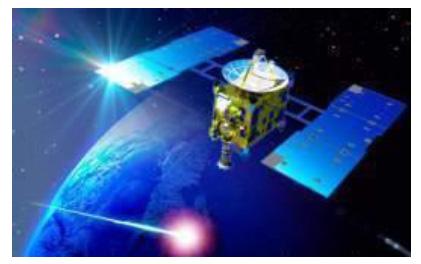 小惑星探査機「はやぶさ」が、宇宙を旅する「はやぶさの旅」の映像も用意される