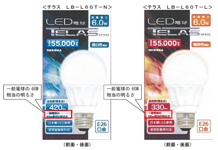 消費者庁から措置命令が下された、オーム電機のLED電球