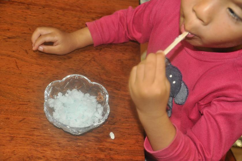 ガリガリ君カキ氷は大人気。1日に2度食べる日も……