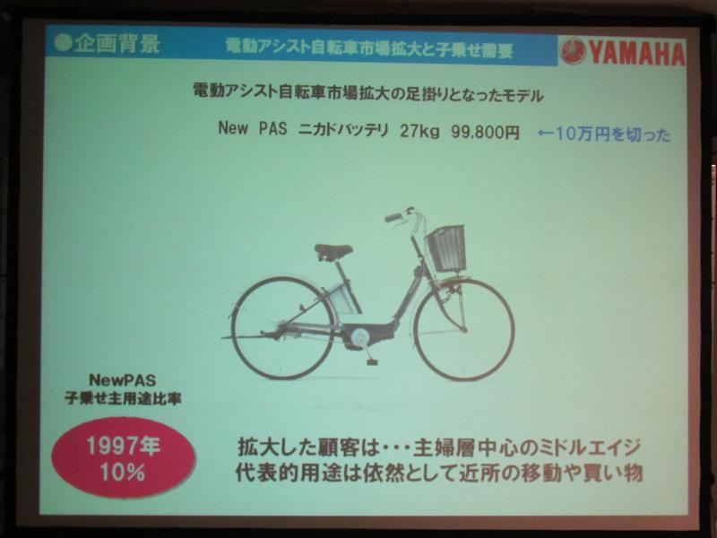1997年に発売したPASでは価格が10万円を切り、主婦層までユーザーが拡大した