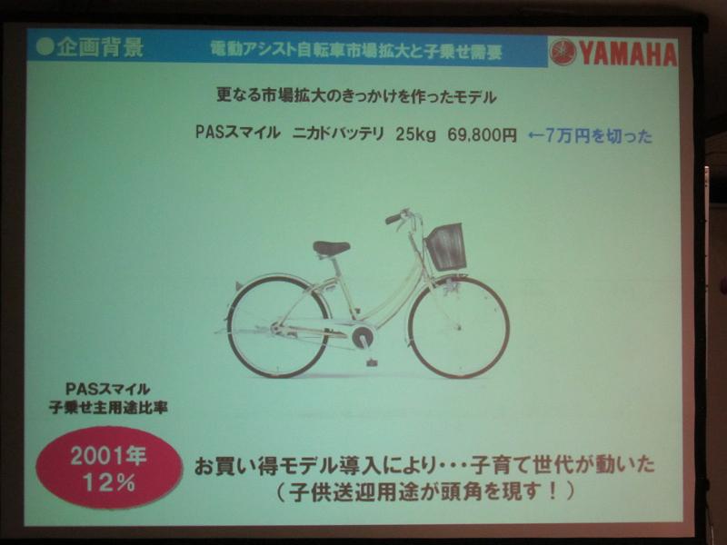 2001年には、価格が7万円を切るお買い得モデルが登場し、若い子育て世代に浸透する起爆剤となった
