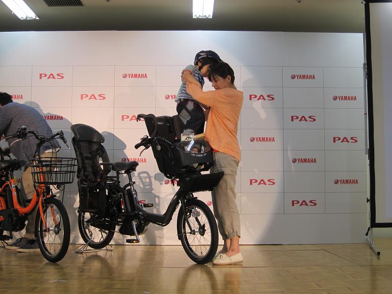 低重心のため、女性でも子供の乗せ降ろしがしやすいという
