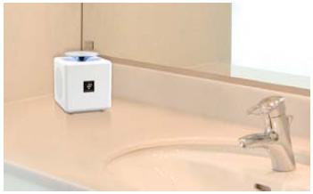 トイレ以外でも設置可能。写真は洗面室