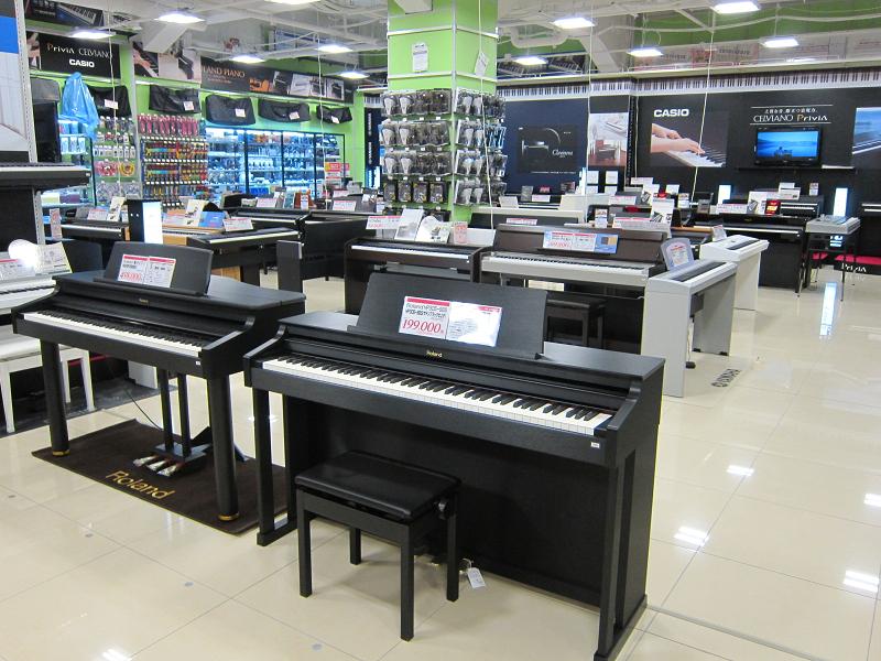 ピアノコーナーも