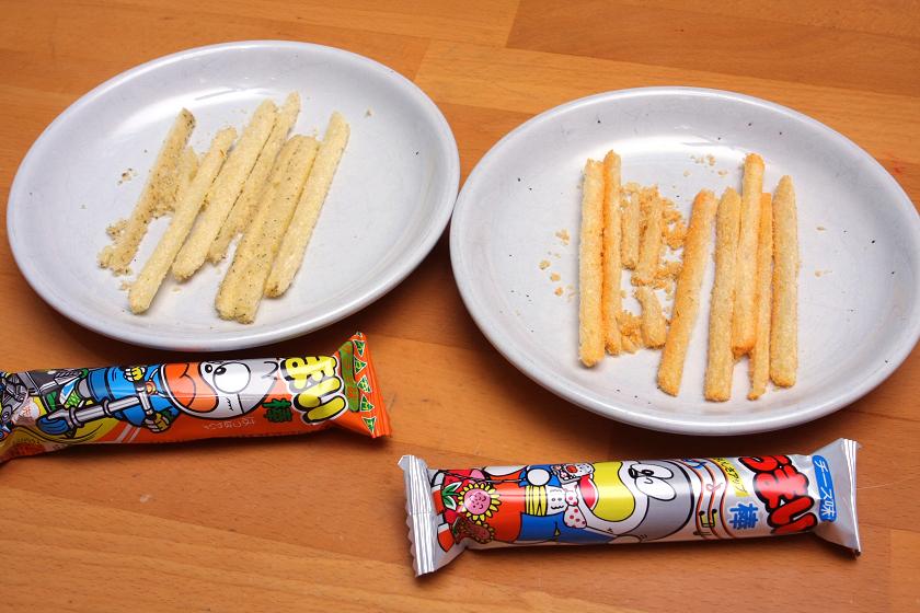 左のサラミ、右のチーズは比較的きれいにスライスできる
