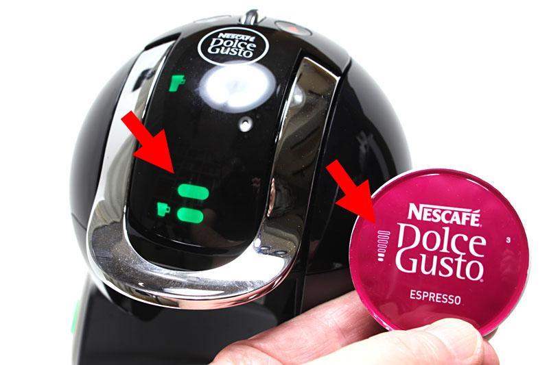 カプセルの目盛りに合わせインジケーターをセットすれば、理想的な濃さでコーヒーを淹れられる