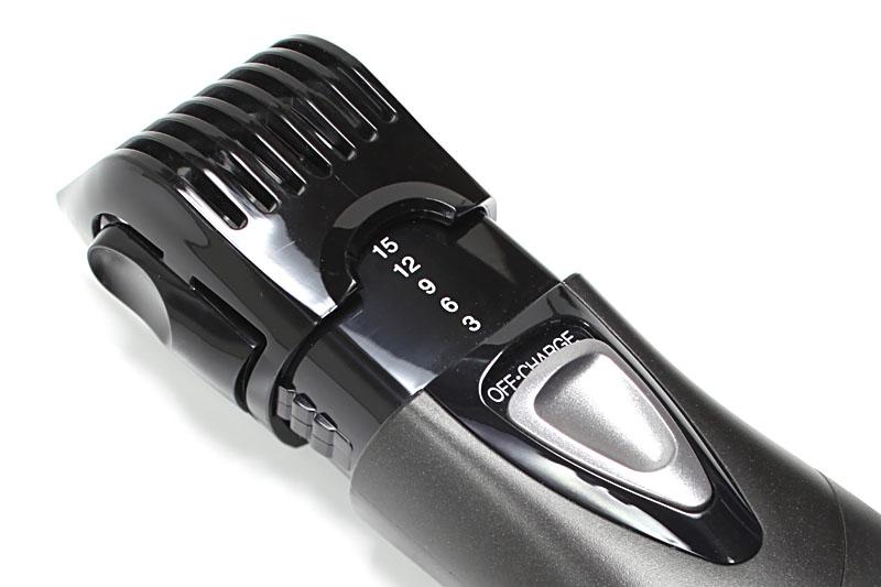 「ヘアー用」と「ヒゲ用」は、3mm、6mm、12mm、15mmに、カットする高さを調節できる