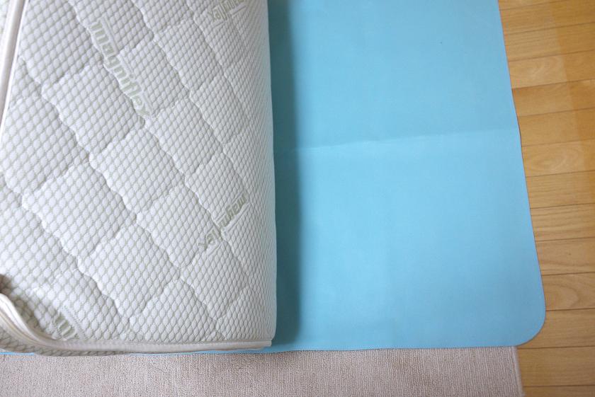 直置きするときも、他の布団に重ねるときも、除湿シートを敷くといいらしい
