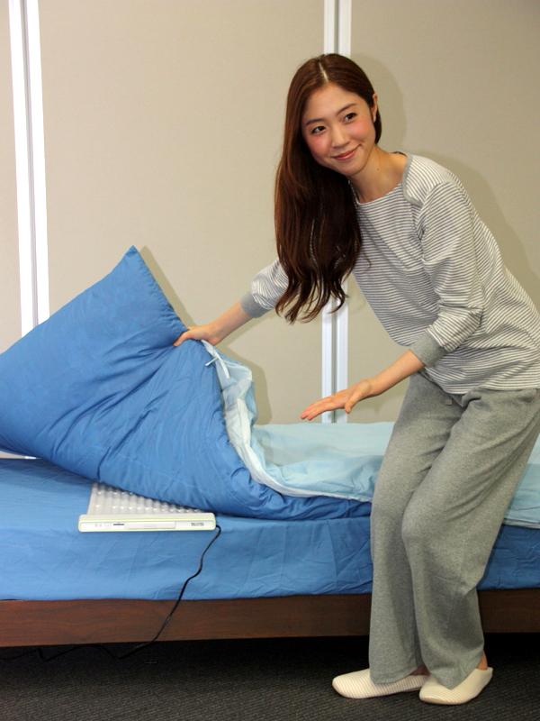 寝具の厚さは30cm程度まで対応する