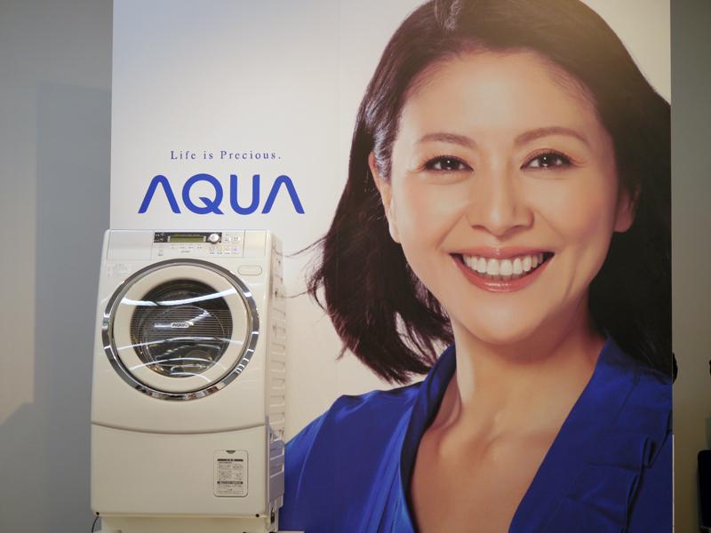 アクアではブランド立ち上げ当時から小泉今日子さんをテレビCMに起用してきた