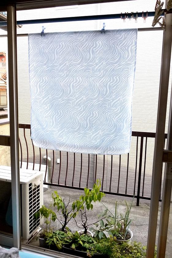 天気のよい日ならあっという間に乾いてしまうので、お洗濯も気軽にできる