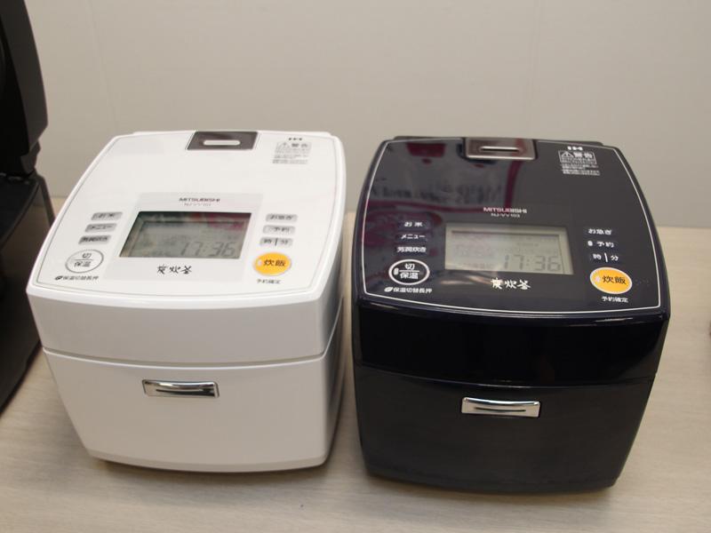 季節炊き機能、バックライト液晶を省略した「NJ-VV103」。本体カラーはロイヤルネイビーとピュアホワイトの2色
