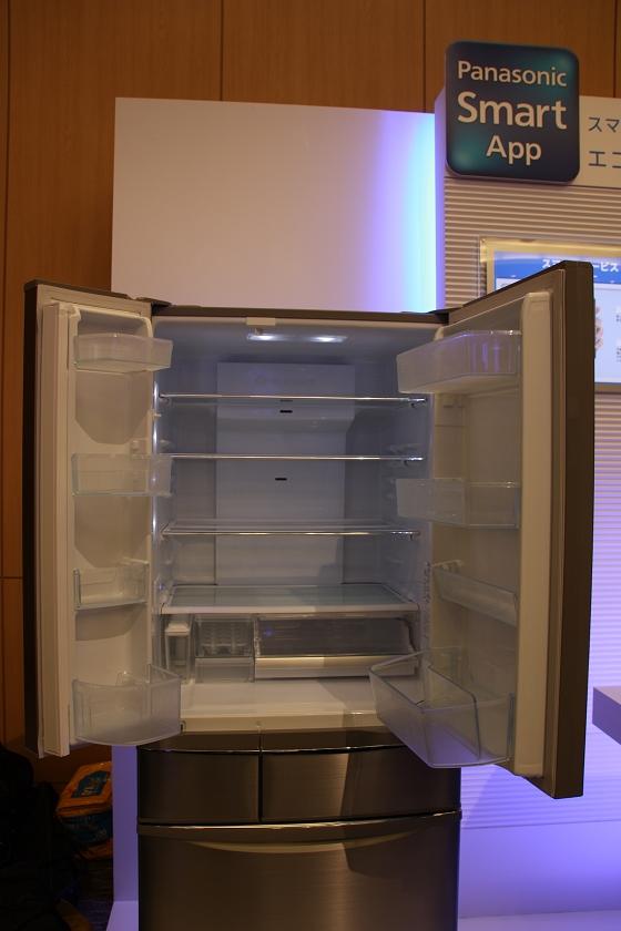 冷蔵室の扉を開けたところ